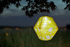 Soji LED Solar Lantern - Yellow Rhombus