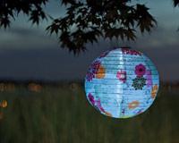Soji LED Solar Lantern - Floral Bloom