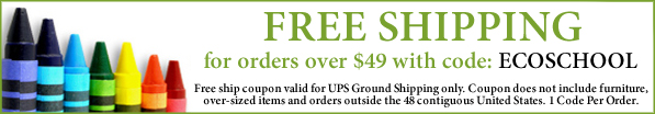 Go Green Back To School Free Shipping